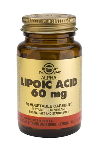 Alpha Lipoic Acid 60mg 30 Veg. Capsules