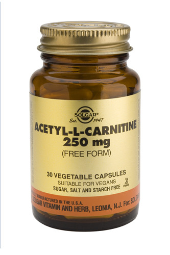 Acetyl-L-Carnitine 250mg 30 Veg. Capsules