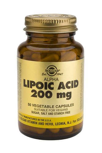 Alpha Lipoic Acid 200mg 50 Veg. Capsules