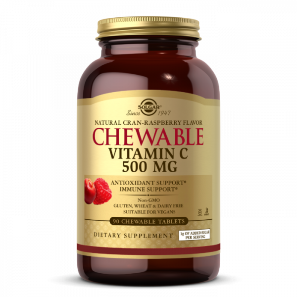 Chewable Vitamin C 500mg (Cran/Raspberry)