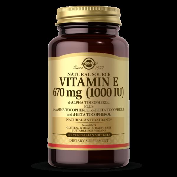 Vitamin E 1000IU Mixed Veg Capsules