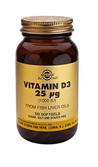 Vitamin D3 25µg / 1000IU Softgels
