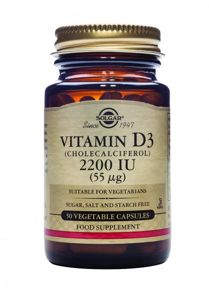 Vitamin D3 (Cholecalciferol) 2200 IU (55 µg)